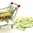Drugs in shopping cart — Stock Photo #10927911