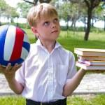 Sports or school? — Stock Photo