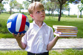 Sports or school? — Stock Photo