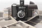 Un vintage pieghevole fotocamera — Foto Stock