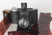Vintage składane kamery z jakiegoś filmu — Zdjęcie stockowe