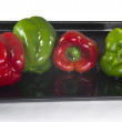 Stock Photo: Four peppers