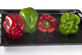 Four peppers — Stock Photo