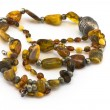 Two necklaces made of amber — Stock Photo #11535620