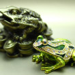 Foto Stock: Frogs of metal
