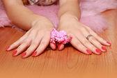 Elegant women's hands — Stock Photo