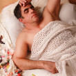 Men sleep — Stock Photo