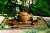 Tea ceremony in Japanese style — Stock Photo