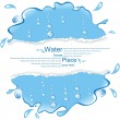 Water design with the broken off paper. — Stock Vector #10894802