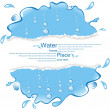 Water design with the broken off paper. — Stock Vector