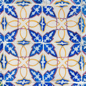 Vintage Azulejo from Portugal — Stock Photo