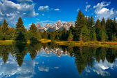 Tetons reflections — Stock Photo