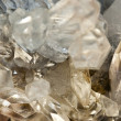 Crystallized quartz - mountain crystal — Stock Photo