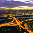 Vienn- Danube River & Island highway at night — Stock Photo #11341485