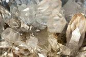 Crystallized quartz - mountain crystal — Stock Photo