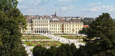 Schoenbrunn Palace and garden vienna — Stock Photo