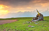 A temple of stones in alpine meadow — Stock Photo
