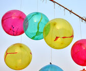 Colorful inflated balloons — Stockfoto