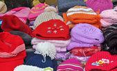 Berretti di lana colorate — Foto Stock