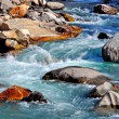 Stock Photo: River with large rocks