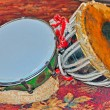 Pair of old indian drums — Lizenzfreies Foto