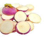 Sliced pieces of turnip — Stock Photo