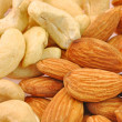 Almond and cashew nuts — Stock Photo #11836897