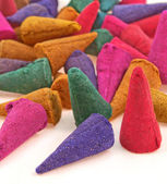 Colorful incense cones — Stock Photo