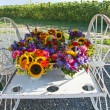 Stock Photo: Flower Wagon