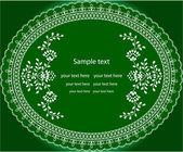Invitation green flower patterns — Stock Vector