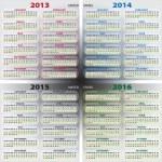 Календарь 2013-2016 США - Cтоковый вектор #11419437.  Ознакомьтесь с бизнес-обзором корпорации Depositphotos...