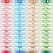 Vector de stock : Calendar - US2013-2016
