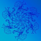 Blue mosaic tiles — Stock Vector