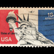 USA postage stamp - Stock Photo