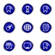 Glossy icon set — Stock Vector #10797085