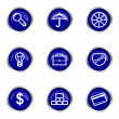 glossy Icon-set — Stockvektor