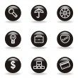 Glossy icon set — Stockvectorbeeld