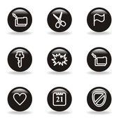 Conjunto de iconos brillante — Vector de stock