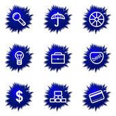 Glossy icon set — Stock Vector