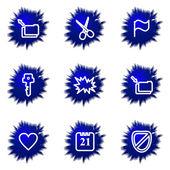 Set di icone lucido — Vettoriale Stock