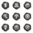 Royalty-Free Stock Vektorgrafik: Glossy icon set
