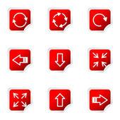 Glansigt ikonuppsättning — Stockvektor