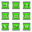 Stock Vector: Glossy icon set