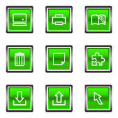 Glanzende pictogrammenset — Stockvector