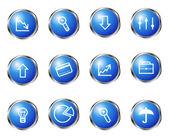 глянцевый икона set — Cтоковый вектор