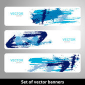 Set of vector banners — Stock Vector