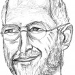 Постер, плакат: Steve Jobs Pencil Sketch