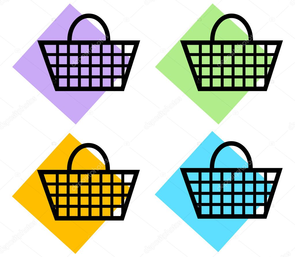 Shopping Basket Icons — Stock Photo #10892686