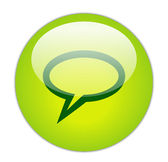 Elliptical Chat Icon — Stock Photo