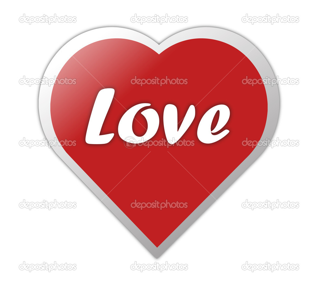 Heart Symbol With Love Written On It  Stock Photo #10987557